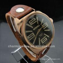 Lover's's Fashion Geschenk Echtes Leder Strap Quarz Armbanduhr WL-027
