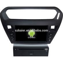 Glonass! Android 4.4 pantalla táctil DVD del coche GPS para Citroen Elysee / peugeot 301 + Qual core + OEM + fábrica directamente
