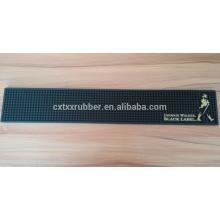 soft pvc beer rail runner, non slip wine spill bar mat