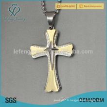Pendentif en gros en bijoux en acier inoxydable, pendentif en or