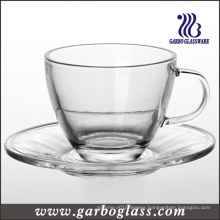 Glass Tea Cup & Saucer Set (TZ-GB09D5108)
