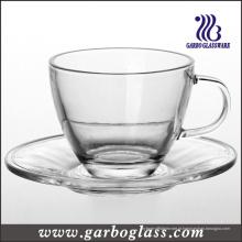 Copo de chá de vidro & Saucer Set (TZ-GB09D5108)