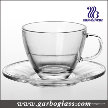 Glass Tea Cup & Saucer Set (TZ-GB09D5108)