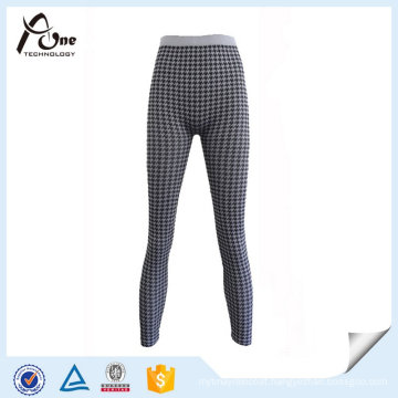 Women Jacquard Leggings Stretch Thermal Underpants