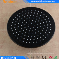 Black Painted Round Mix Wall Mounted Ceiling Waterfall Head Shower