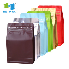 Recyclable Kraft Paper Flat Bottom Plastic Coffee Bag