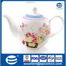 1200ccm Porzellan Wasserkrug für den türkischen Markt mit schönem Designdruck