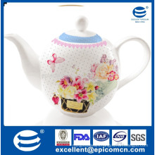 1200cc porcelain water jug for Turkish market with beautiful design printing
