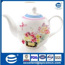 Jarra de água de porcelana de 1200cc para o mercado turco com impressão de design bonito