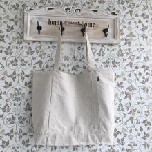 Promocionais Hot Sale Hemp Shopping Bag com bolso exterior