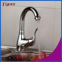Fyeer Goose Neck 360 Torneira de lavatório de cozinha giratória