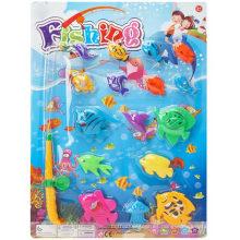 Juego de la pesca de los juegos de la pesca 16PCS Juguete de la pesca del juego
