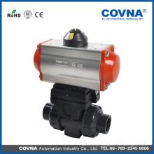 COVNA Válvula de esfera de controle pneumático de dupla união de 2 vias fabricada na China