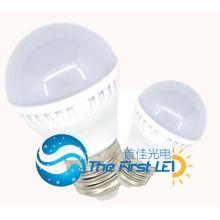 E27 lámpara llevada plástica de la luz de bulbo 9w