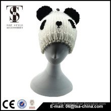 Cute warm kid's panda hat