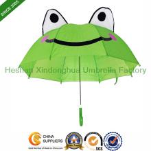 Tieren Frosch Cartoon Kid Regenschirme für Kinder (KID-0019ZL)