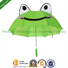 Animal Frog Cartoon Kid Umbrellas for Children (KID-0019ZL)