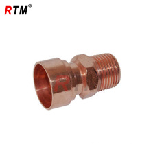 accesorio de adaptador macho de tubo de gas de cobre