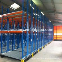 Jracking almacén de metal sistemas de bastidor Q235 recubrimiento de polvo de acero utilizado almacenamiento estantería rack de literatura móvil