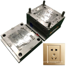 mouldings supplier design custom precision wall plug mold injection moulds for plastic wall plugs