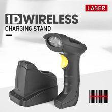 Scanner de code à barres laser sans fil 1d portable avec support