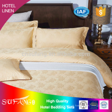 2017 novo estilo hotel linho 60 s cetim cor sólida conjunto de cama