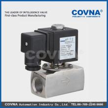 "Micro pilot piston 2/2 solenoid valve,media steam, hot water, high temperature oil, air stainless steel 1/4"" solenoid valve"