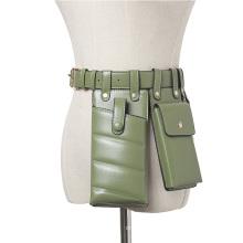 Chic Fanny Pack Women PU Leather Waist Belt Bag Girls Crossbody Bags Disco Waist pack luxury handbags Fashion designer chest bag