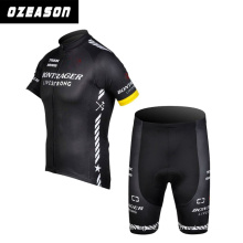 Specialized Custom Plain Black Short Sleeve Quickly Dry Cycling Jersey