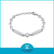 Wholesale 925 Silver CZ Crysyal Jewelry Bracelet (SH-B0006)