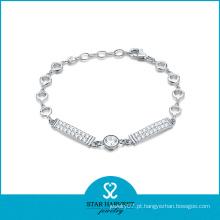 Atacado 925 prata CZ crysyal jóias pulseira (SH-B0006)
