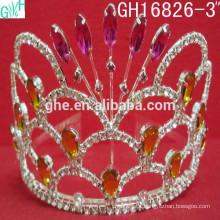 Coroa pequena e pequena popular, tiara infantil