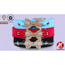 Dog belt manufacture company butterfly dog collar belt with diamond