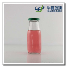 Glass Materail and Beverage Use 10oz Glass Juice Bottles 300ml Milk Glass Bottle with Metal Lid