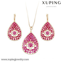 63647 Xuping Fashion 18K Charming CZ Gold LuxuryJewelry Set