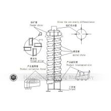Équipement d'extraction de goulotte en spirale de fibre de verre de Jiangxi Shicheng