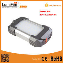 2015 Newest Product 18650 Li Ion Battery LED Camping Lamp with Mobile Phone Charger Warning LED Camping Lantern