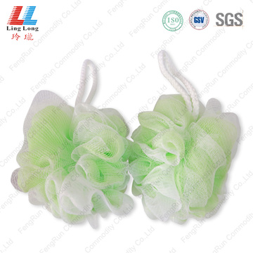 Artificial cleanse double mesh sponge