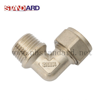 Brass Male Compression Elbow with Nickel Plated