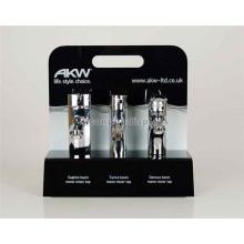 Table de séparation Haut Noir Façade Stand, Home Appliance Shop Acrylique Display Stand pour robinets