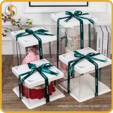 Wholesale Cake Box Pet Cake Packaging Gift Box with Ribbon