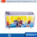 Congelador de caixa profundo curvado 538L da caixa de vidro para a exposição do gelado
