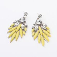 Cheap Jewelry Drop Earrings resin clear crystals Flower drop Bohemia Tassel Fashion Earring for women pendant wholesale charms