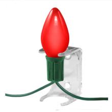 Clip de soquete de luz de Natal de plástico transparente