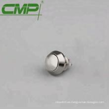 Interruptor de botón a prueba de agua de 12 mm de diámetro