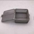 cesta redonda retangular de malha de aço inoxidável