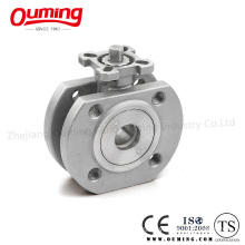 Wafer Type Ball Valve with Mouting Pad