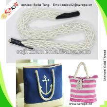 White Beach Bag Rope Handle