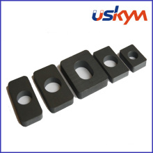 Aimants de blocs de ferrite dur avec trou (F-010)