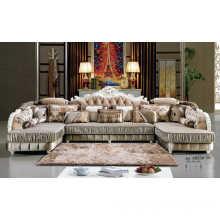 Sectional Sofa, Royal Sofa, French Sofa, Fabric Sofa (A895)